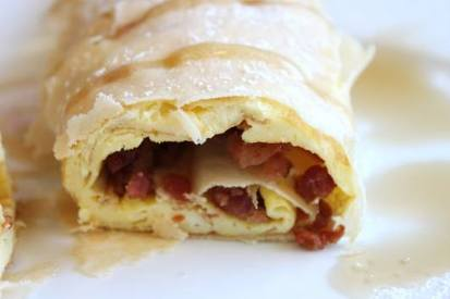 Bacon & Egg Crepes!