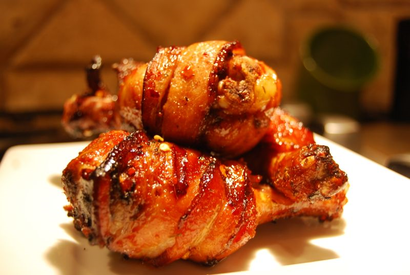 Bacon Wrapped Bbq Drumsticks!