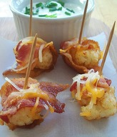 Bacon Wrapped Cheesy Tots!