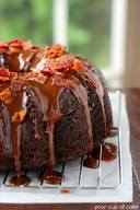 Chocolate Bacon Bundt Cake!