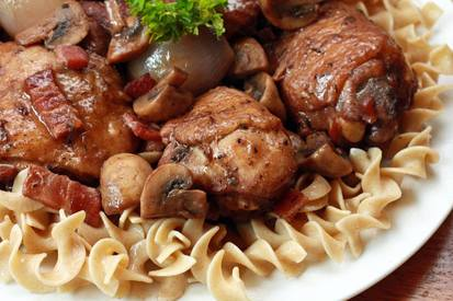 Coq Au Vin With Bacon!