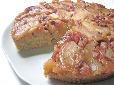 Apple & Candied Bacon Upside Down Cake!