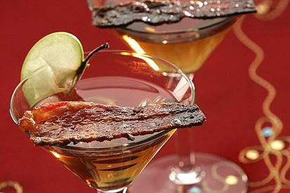 Candied Bacon Martini!