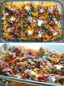 Cheesy Bacon Potato Casserole!