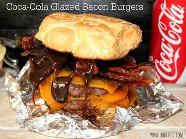 Coca Cola Glazed Bacon Burgers!