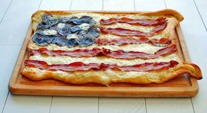 Bacon Flag Pizza!