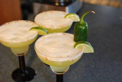Bacon Pineapple Jalapeno Margaritas!
