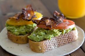 Avocado, Bacon, & Tomato Toast!