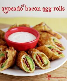 Bacon Avocado Egg Rolls!