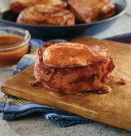 Bacon Pork Chops W/ Bbq Glaze!