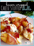 Bacon Wrapped Cheese Stuffed Shells!