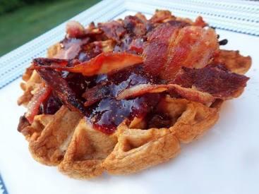 Bacon & Berry Waffles!