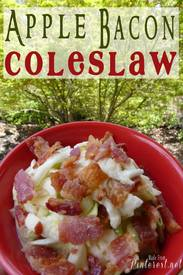 Apple Bacon Cole Slaw!