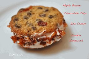 Maple Bacon Chocolate Chip Ice Cream Sandwich!