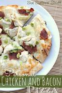 Chicken Bacon Alfredo Pizza!