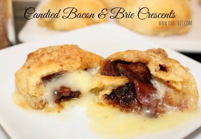Candied Bacon & Brie Crescents!