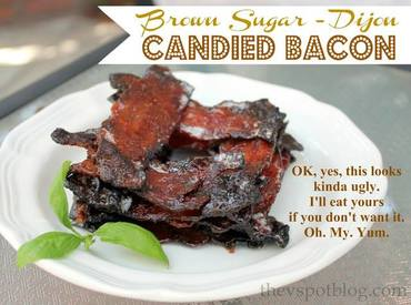 Brown Sugar Dijon Candied Bacon!