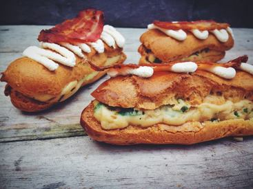 Bacon Mushroom & Cheese Eclairs!