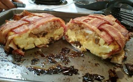Bacon Wrapped Breakfast!