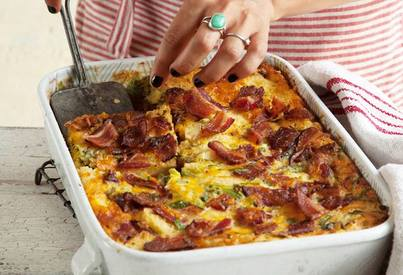 Bacon & Herb Bread Pudding!