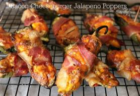 Bacon Cheeseburger Jalapeno Poppers!