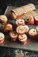 Bacon Wrapped Sushi!