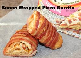 Bacon Wrapped Pizza Burrito!
