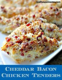 Cheddar Bacon Chicken Tenders!