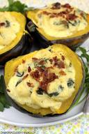 Bacon Gouda & Tortellini Stuffed Squash!