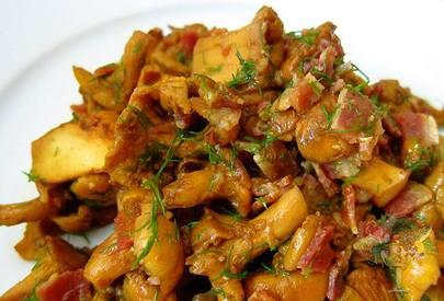 Bacon Garlic Chanterelle Mushrooms!