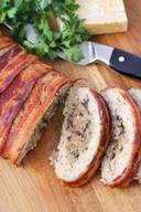 Bacon Wrapped Chicken Meatloaf!