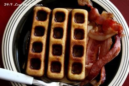 Sweet Bacon Waffle Sticks!
