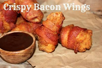Crispy Bacon Wings!