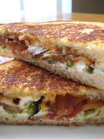 Jalapeno Popper & Bacon Grilled Cheese!