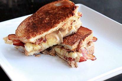 Monday Madness! Peanut Butter, Bacon & Banana Sandwich!