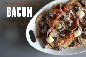 Candied Pecan Bacon Pancake Bake!