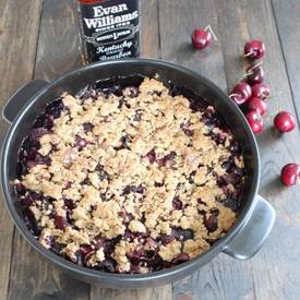 Bacon Bourbon Cherry Crumble!