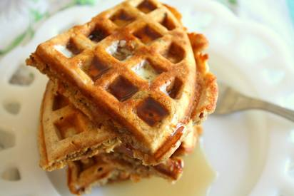 Oatmeal Nut Bacon Waffles!