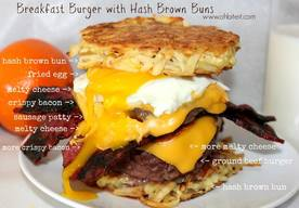 Hash Brown Breakfast Burger!