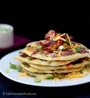 Savory Bacon Cheddar & Green Onion Pancakes!
