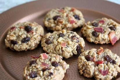 Bacon Raisin Oatmeal Cookies!