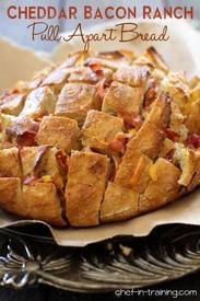 Cheddar Bacon Ranch Pull Apart Bread!