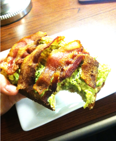 Avocado Bacon Toast!