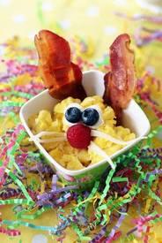 Scrambled Egg & Bacon Bunnies!