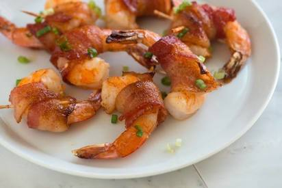 Spicy Maple Bacon Wrapped Shrimp!