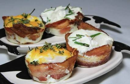Bacon Wrapped Eggs!