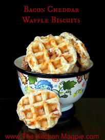 Bacon & Cheddar Waffle Biscuits!
