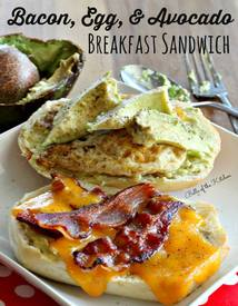 Bacon Egg & Avocado Sandwich!