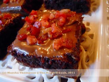 Fudgey Bacon Nutella Brownies!