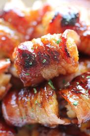 Grilled Bacon Wrapped Tater Tot Bombs!